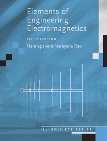 Elements of Engineering Electromagnetics  6th 2004 edition cover