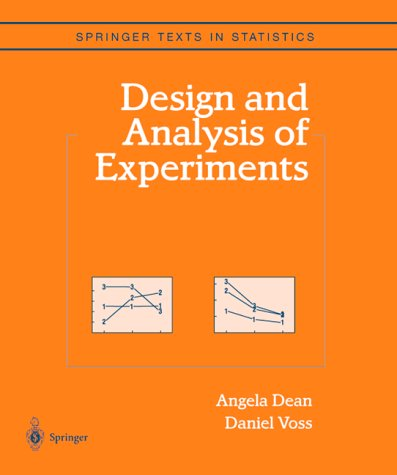 Design and Analysis of Experiments   1999 edition cover