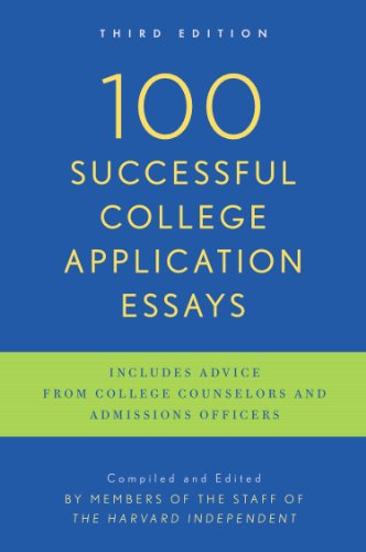 100 Successful College Application Essays  3rd (Revised) edition cover