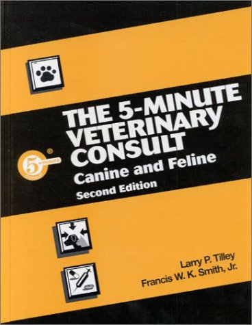 5 Minute Veterinary Consultant  2nd 2000 9780683304619 Front Cover