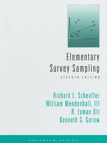 Elementary Survey Sampling  7th 2012 edition cover