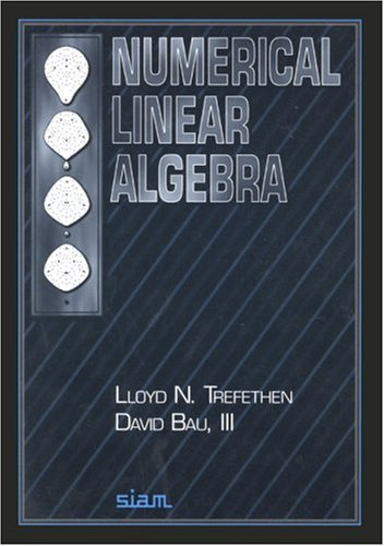 Numerical Linear Algebra   1997 9780898713619 Front Cover