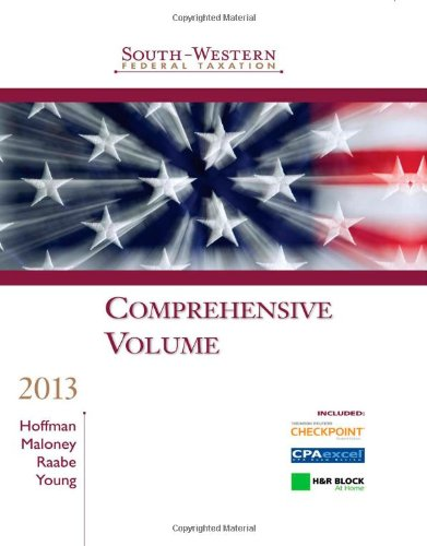 South-Western Federal Taxation 2013:  36th 2012 edition cover