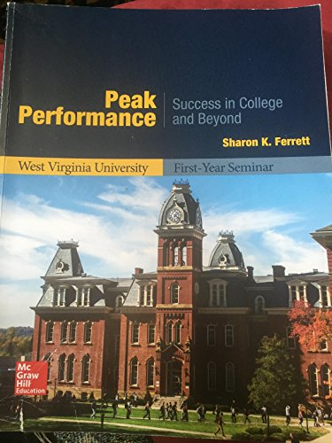 PEAK PERFORMANCE-TEXT >CUSTOM<          N/A 9781259667619 Front Cover