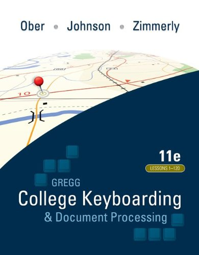 College Keyboarding and Document Processing  11th 2011 edition cover