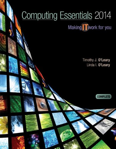 Computing Essentials 2014 Complete Edition with Connect Plus  24th 2014 9780077723620 Front Cover