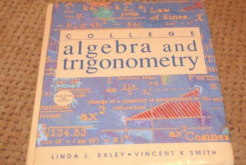 Algebra and Trigonometry   1993 9780132077620 Front Cover