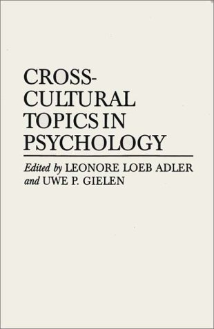 Cross-Cultural Topics in Psychology   1994 9780275950620 Front Cover