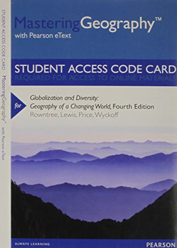 Globalization and Diversity Masteringgeography With Pearson Etext Standalone Access Card: Geography of a Changing World  2013 edition cover