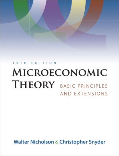 Microeconomic Theory Basic Principles and Extensions 10th 2008 edition cover