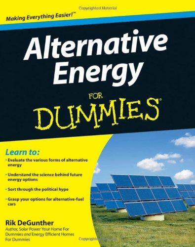 Alternative Energy for Dummies   2009 edition cover