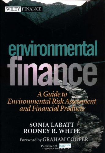 Environmental Finance A Guide to Environmental Risk Assessment and Financial Products  2002 edition cover
