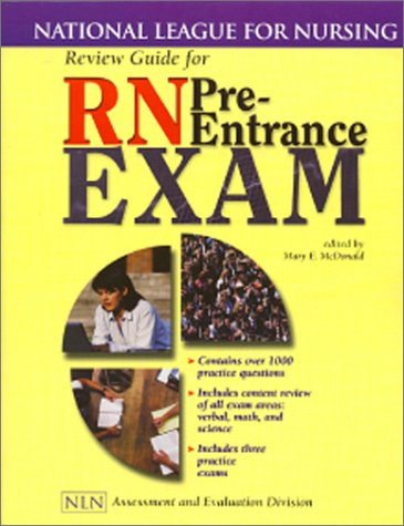 Review Guide for RN Pre-Entrance Exam National League for Nursing  2000 edition cover