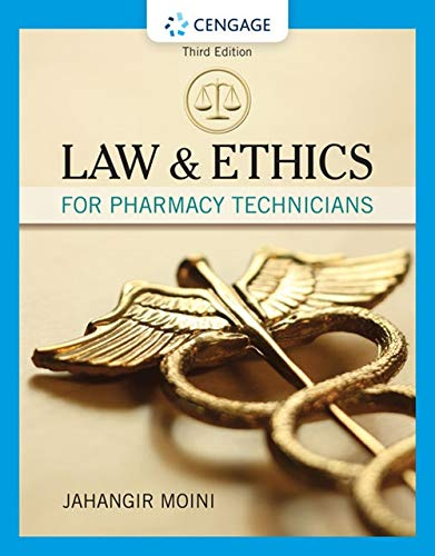 Law and Ethics for Pharmacy Technicians:   2019 9781337796620 Front Cover