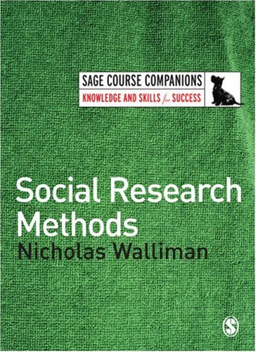 Social Research Methods   2006 edition cover