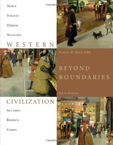 Western Civilization Beyond Boundaries since 1560 6th 2011 edition cover