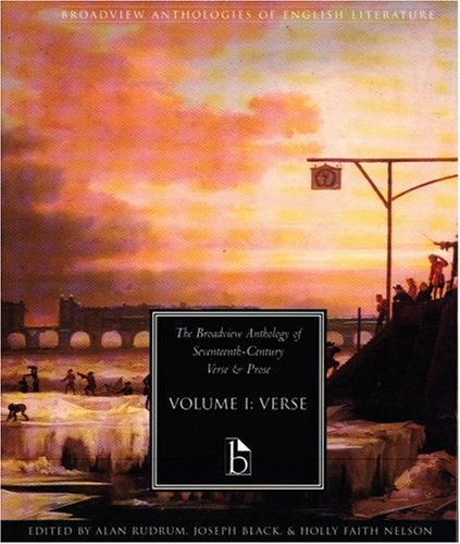 Broadview Anthology of Seventeenth Century Verse and Prose   2001 9781551114620 Front Cover