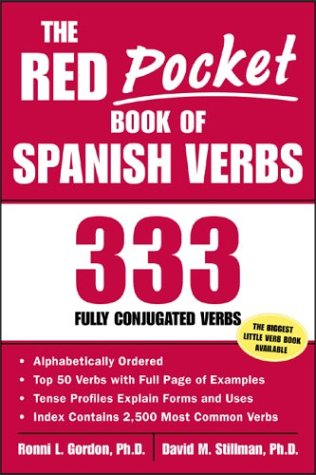 Red Pocket Book of Spanish Verbs 333 Fully Conjugated Verbs  2003 edition cover