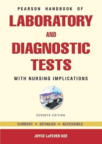 Pearson's Handbook of Laboratory and Diagnostic Tests With Nursing Implications 7th 2013 edition cover