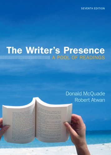 Writer's Presence A Pool of Readings 7th 2012 edition cover