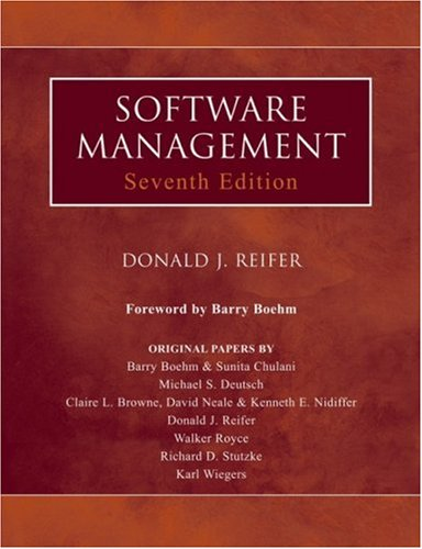 Software Management  7th 2006 (Revised) edition cover