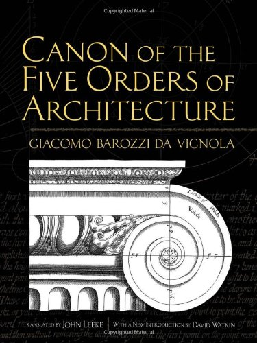 Canon of the Five Orders of Architecture   2011 edition cover