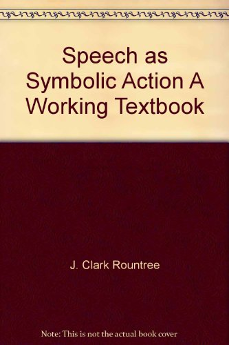 Speech As Symbolic Action 2nd 9780536582621 Front Cover