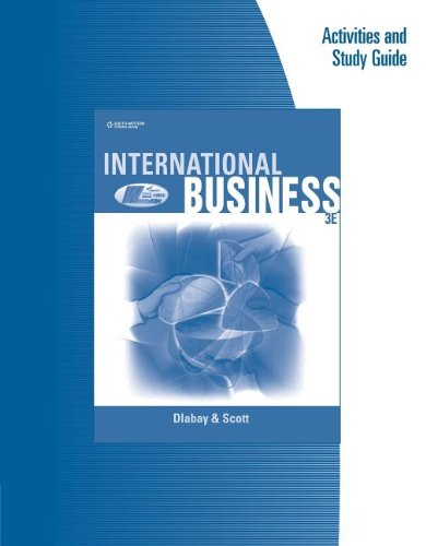 International Business  3rd 2006 (Workbook) 9780538728621 Front Cover
