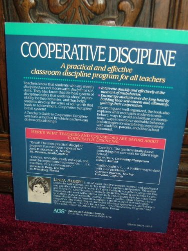 Teacher's Guide to Cooperative Discipline How to Manage Your Classroom and Promote Self-Esteem Teachers Edition, Instructors Manual, etc.  edition cover