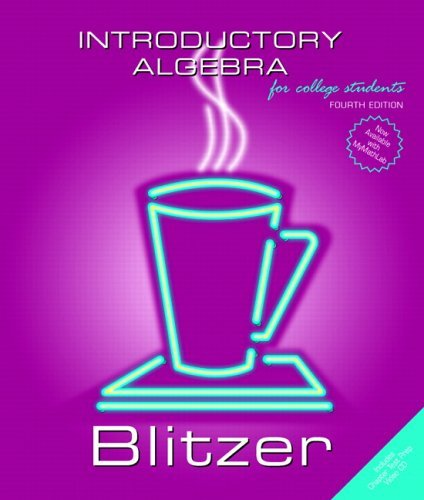 Introductory Algebra  4th 2006 (Revised) 9780131492622 Front Cover