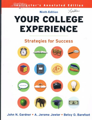 YOUR COLLEGE EXPERIENCE >INSTRS.ANNOT< N/A 9780312688622 Front Cover