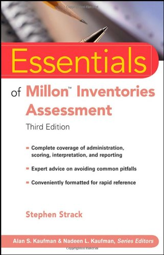 Essentials of Millon Inventories Assessment  3rd 2008 edition cover