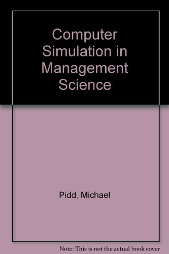 Computer Simulation in Management Science  3rd 1992 9780471934622 Front Cover
