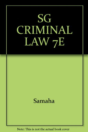Sg Criminal Law 7th 2002 9780534563622 Front Cover