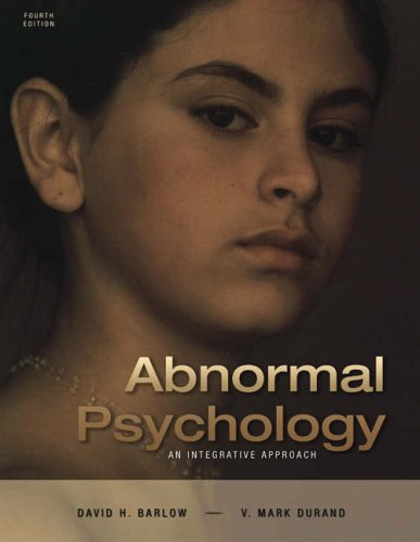 Abnormal Psychology An Integrative Approach 4th 2005 edition cover