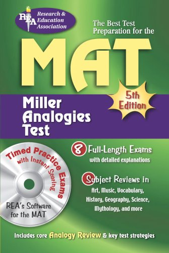 MAT Miller Analogies Test 5th 2006 9780738602622 Front Cover
