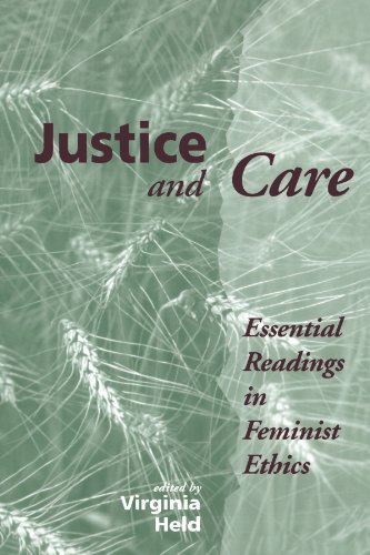 Justice and Care Essential Readings in Feminist Ethics  1995 edition cover