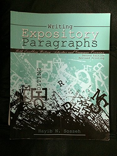 Writing Expository Paragraphs With Enabling Writing Activities and Grammar Exercises 2nd (Revised) edition cover