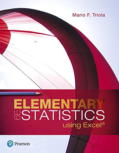 Elementary Statistics Using Excel  6th 2018 9780134506623 Front Cover