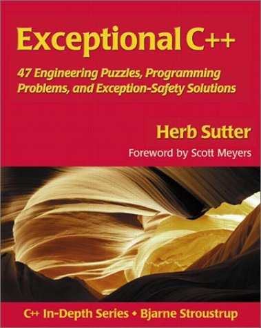 Exceptional C++ 47 Engineering Puzzles, Programming Problems, and Solutions  2000 edition cover