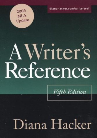Writer's Reference : With 2003 MLA Update 5th 2003 9780312412623 Front Cover
