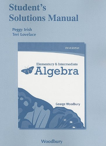 Student Solutions Manual for Elementary and Intermediate Algebra  3rd 2012 (Revised) edition cover