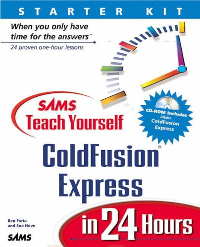 Coldfusion Express 4.0 in 24 Hours   2000 9780672316623 Front Cover