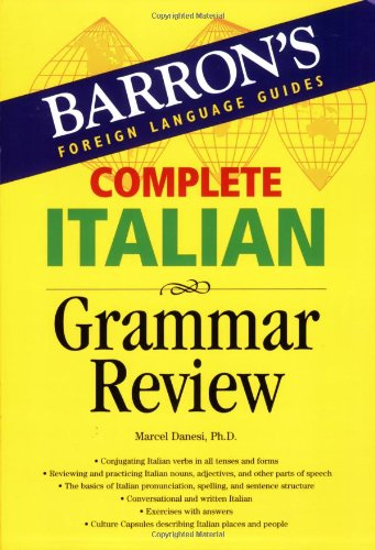 Complete Italian Grammar Review  3rd 2006 (Student Manual, Study Guide, etc.) 9780764134623 Front Cover