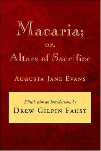 Macaria Or, Altars of Sacrifice  1992 edition cover