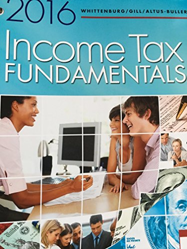 Llf Income Tax Fundamentals 2016  34th 2016 9781305664623 Front Cover