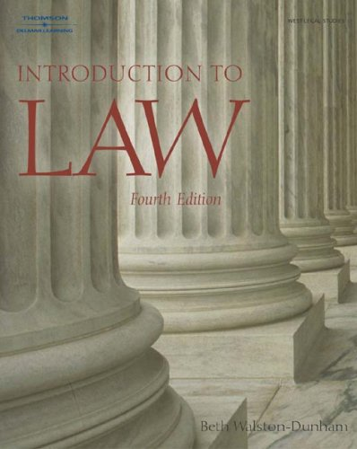 Introduction to Law  4th 2004 (Revised) 9781401834623 Front Cover