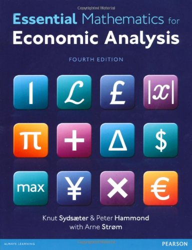 Essential Mathematics for Economic Analysis with MyMathLab Global Access Card  4th 2013 9780273787624 Front Cover