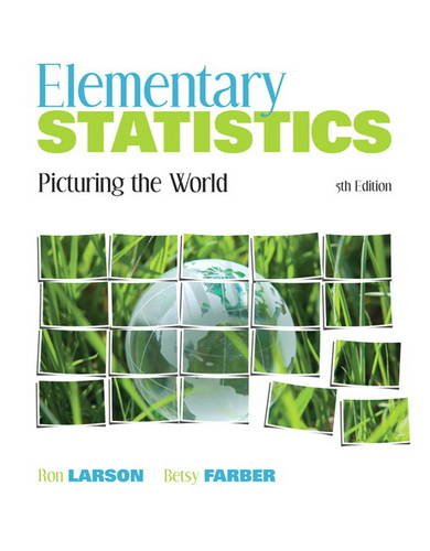 Elementary Statistics Picturing the World 5th 2012 9780321693624 Front Cover