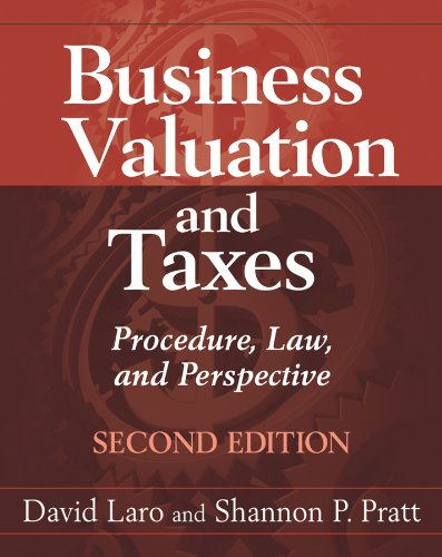 Business Valuation and Federal Taxes Procedure, Law, and Perspective 2nd 2011 edition cover